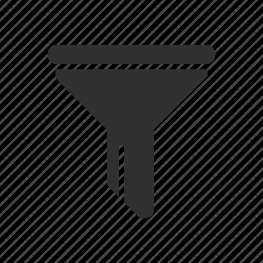 filter, funnel, sort, tube icon