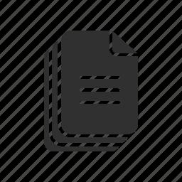 attachement, document, file, paper icon