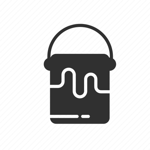 bucket, color, paint, paint bucket icon