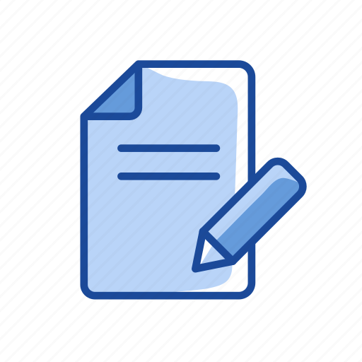 create post, new document, pencil, writing icon