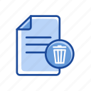 delete document, document, remove, trash icon