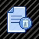 document, trash, remove, delete document