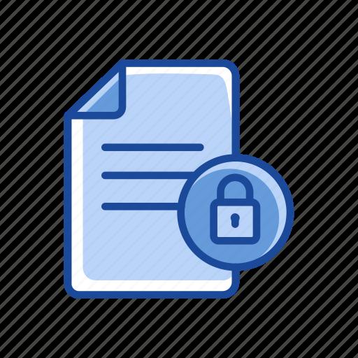 files, lock file, padlock, secure document icon