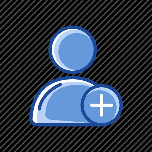 add, add contact, add user, profile icon