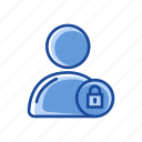 account public, lock, padlock, secure icon