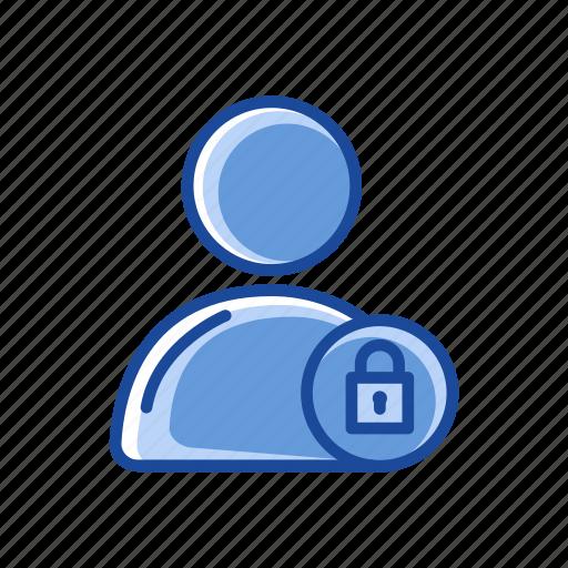 account public, lock, padlock, secure icon