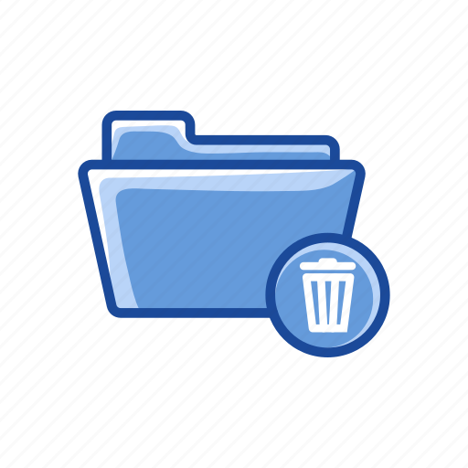 delete folder, eraser, file, folder, trash icon