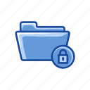files, folder, folder lock, lock icon