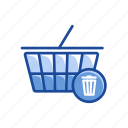 cart, delete cart, online shopping, remove cart icon