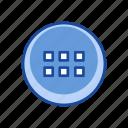 notification, squares, menu bar, settings