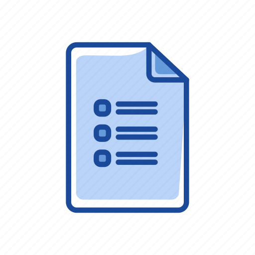 check list, journal, list, to do list icon