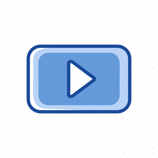arrow, play button, remote, video player icon
