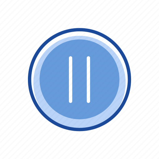 lines, pause, pause button, plug icon