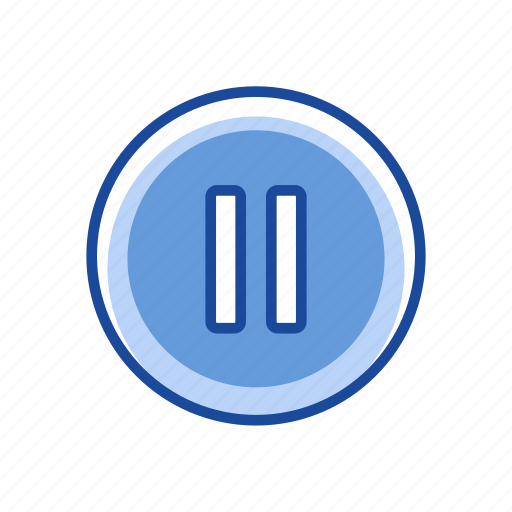 lines, outlet, pause, pause button icon