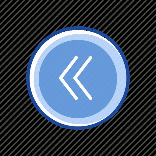 back, back button, pointer, previous button icon