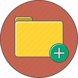 add, attach, folder, plus icon