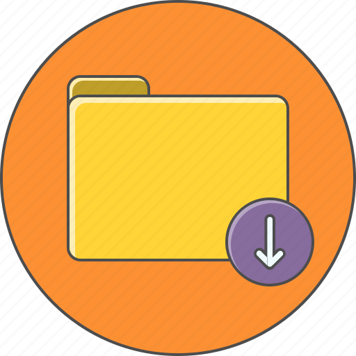 arrow, conenction, down, download, server icon