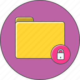 directory, folder, lock, protected icon