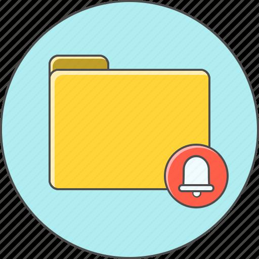 alert, folder, notification icon