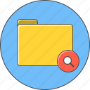 find, folder, magnifier, search icon