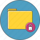 folder, unlock icon