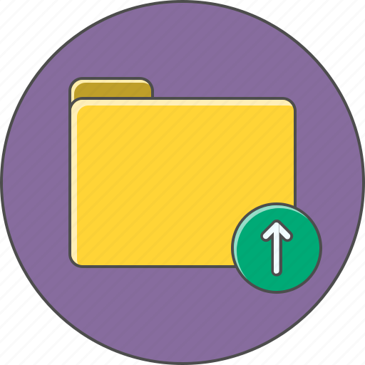 arrow, attach, folder, up, upload icon