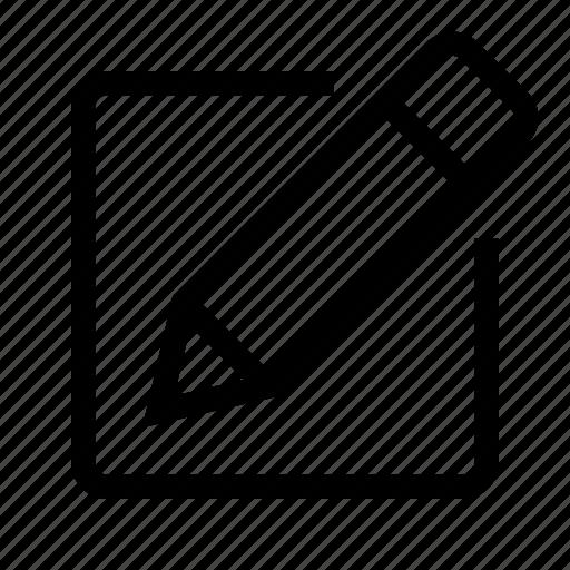 document, edit, letter, message, pencil, post icon
