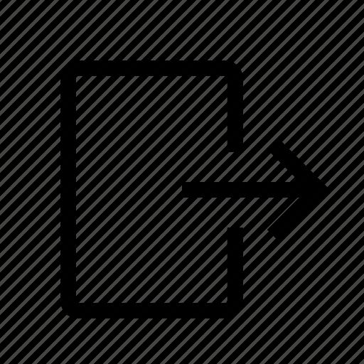 arrow, logout, navigation, right, signout icon