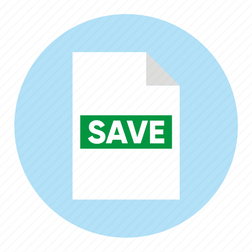 action, document, file, guardar, paper, save icon