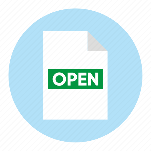 action, document, file, open, paper icon