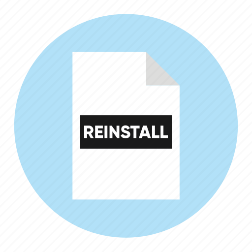 action, document, file, paper, reinstall icon