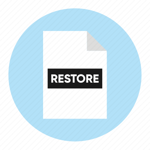 action, document, file, paper, restore icon