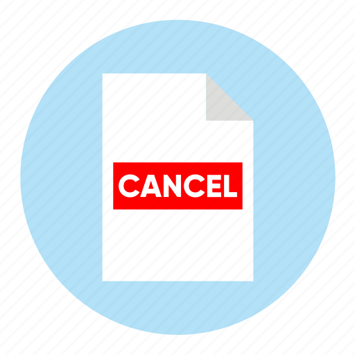action, cancel, document, file, paper icon