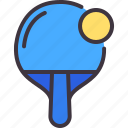 ping, pong, tennis, racket, equipment, ball