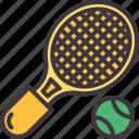 tennis, ball, sport, racket, equipment
