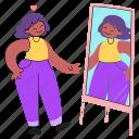 body, acceptation, activism, self, esteem, love, respect, reflection, mirror, woman