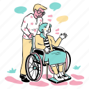 disable, disability, help, kind icon