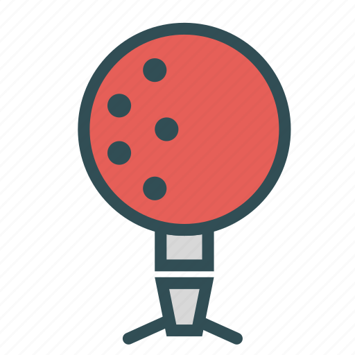 ball, circle, red, shape, stand icon