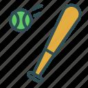 ball, baseball, bat, sport, training icon