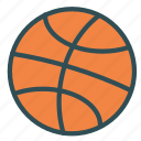 ball, basket, sport, training icon