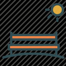 beach, bench, outdoor, park, sun icon