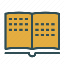 book, braille, literature, read, text icon