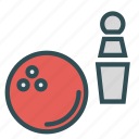ball, bowling, fun, pins, sport, training icon