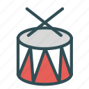 band, drum, instrument, music, show icon