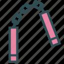 martiaart, nunchaku, sport, training, weapon icon