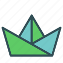 birthday, boat, fun, hat, kids, paper, party icon