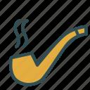 old, pipe, smoke, smokeing, tabbaco, vintage icon