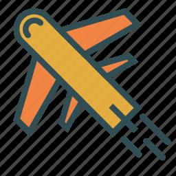 airplane, plane, transport, travel, vacation icon