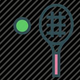 ball, racket, sport, tennis, training icon