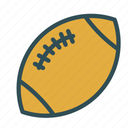 american, ball, footbal, rugby, sport, training icon
